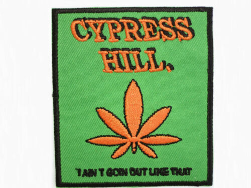 "Cannabis Leaf CYPRESS HILL Embroidered Iron On Patch Badge 3/""//7.5cm"