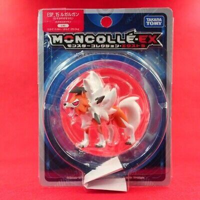 TAKARA TOMY Pokemon Sun /& Moon Moncolle EX ESP-15 Lycanroc Dusk Figure Toy