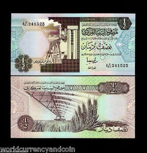 Details about LIBYA 1/2 HALF DINAR P58C 1991 OIL REFINERY UNC AFRICAN  CURRENCY MONEY BANK NOTE
