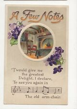 A Few Notes 1911 Embossed Chromo Litho Postcard Music 259a