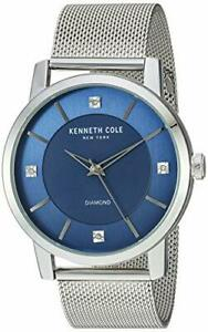 Kenneth-Cole-KC15105002-Blue-Dial-Stainless-Steel-Men-039-s-Watch