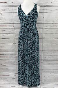 Lauren-Ralph-Lauren-Women-039-s-maxi-dress-sleeveless-empire-waist-stretchy-Size-8