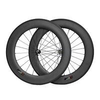 Straight Pull Carbon Wheels 700C 20.5mm Width 88mm Clincher Road Bike Wheelset
