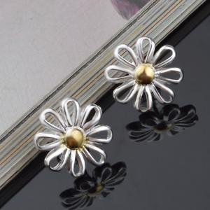 Elegant-Women-925-Sterling-Silver-Plated-Hollow-Daisy-Ear-Stud-Earring-Jewelry