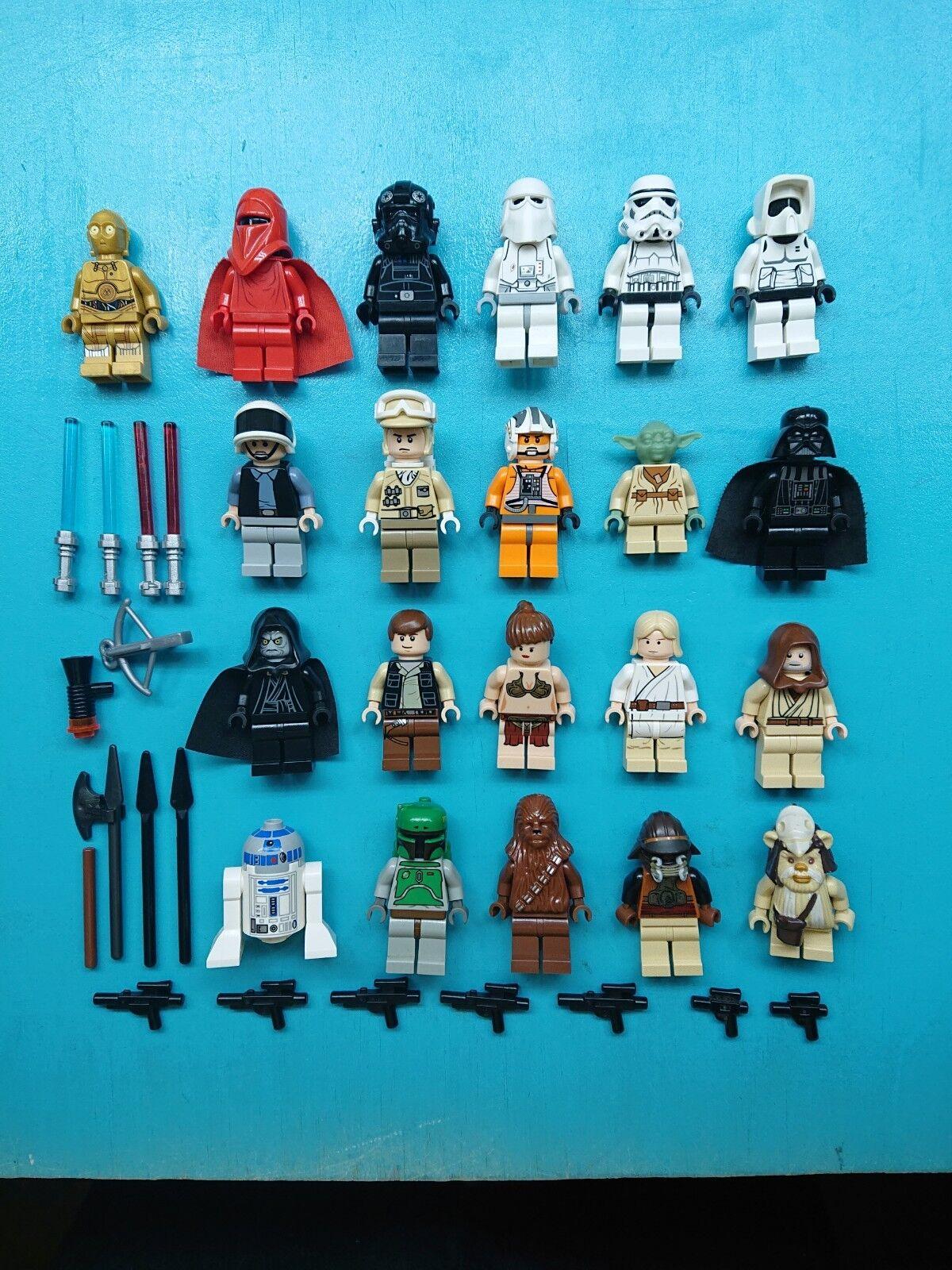 Lego Star Wars Lot 21 Minifigures Ultimate Original Trilogy Bundle w  weapons