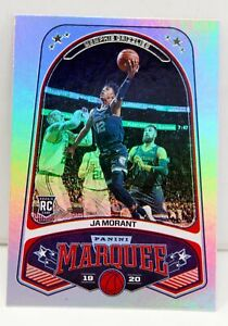 Ja-Morant-RC-2019-20-Chronicles-Marquee-Silver-Holo-Refractor-Rookie-Card-253