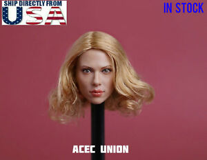 1//6 Scarlett Johansson Black Widow Head Sculpt For Hot Toys Phicen SHIP FROM USA