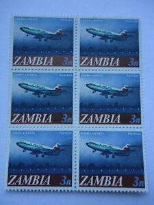 Zambia-1968-SG131-1n-Block-of-6-MNH-Zambia-Airways