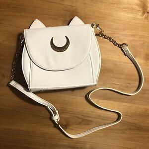 GENUINE-Samantha-Vega-Sailor-Moon-Artemis-White-Purse-Handbag-anime