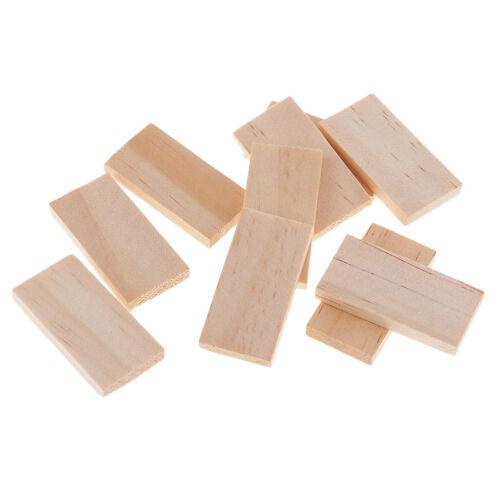 10 Stück natürliche unvollendete Holzstücke leere Plaque für DIY