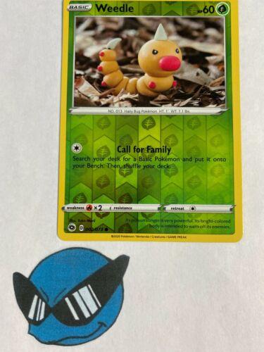 Pokemon TCG Weedle 2//73 Reverse Holo Champions Path