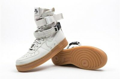 89910e5b7d939 NIKE WMNS SF AF1 AIR FORCE 1 HIGH LIGHT BONE SPECIAL FIELD SZ 10 [857872