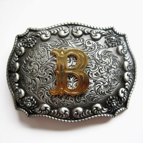 Lettering Initial Buckle Belt Buckle Initials 554 a B C D E F G H