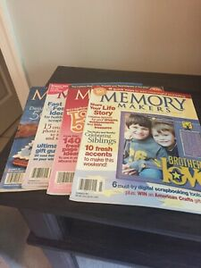Lot-Of-4-Memory-Makers-The-First-Source-For-Scrapbook-Ideas