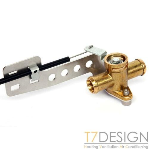 """3//4/"""" Pull to Close Bowden Operated Kit Race Rally Car Brass Heater Valve 19mm"""