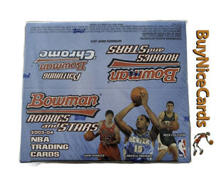 2003-04 Bowman Rookies And Stars Retail Box Possible Lebron James Chrome RC