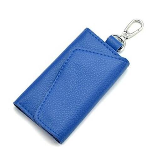 New Men Women PU Leather Key Chain Accessory Pouch Bag Wallet Case Key Holder FI