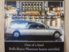 brochures Lymn Rolls Royce & Bentley Luxury Vehicle hire and Funeral Service