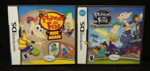 Phineas-Ferb-2nd-Dim-Ride-Again-Nintendo-DS-Lite-3DS-2DS-2-Game-Lot-Tested