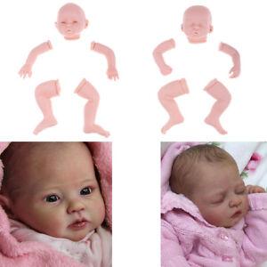 2-Satz-20-Zoll-Unlackiert-Reborn-Kits-Neugeborenes-Babypuppe-mit-weichem
