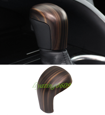 Peach Wood Grain Inner Gear Lever Shift Knob Cover Trim For Toyota Camry 2018-19