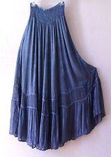 NEW~Denim Blue Embroidered Panel Peasant Romantic Boho Dress-Skirt~8/10/M/Medium