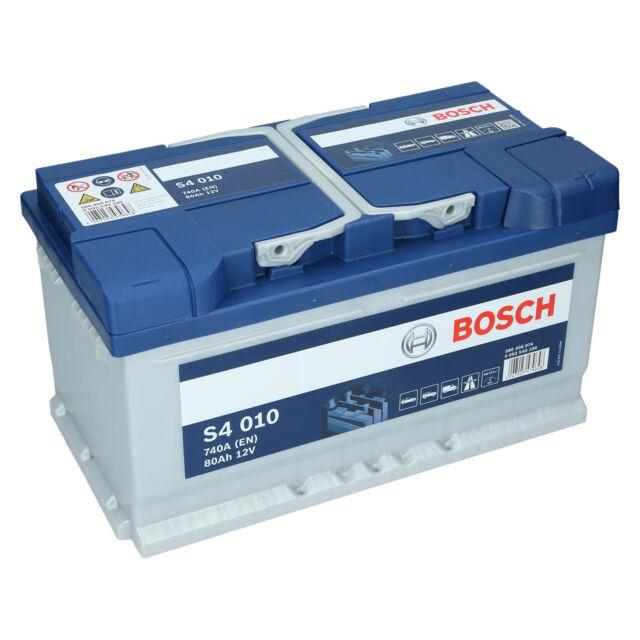 PKW Autobatterie 12 Volt 80 Ah Bosch S4 010 Starterbatterie ersetzt 75Ah 85Ah