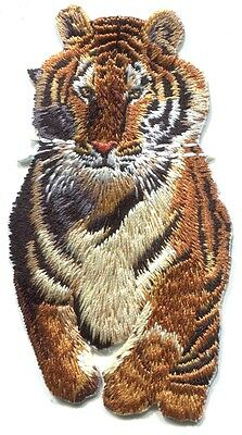 TIGER running EMBROIDERED IRON-ON PATCH **Free Shipping** p3936 sew applique cat