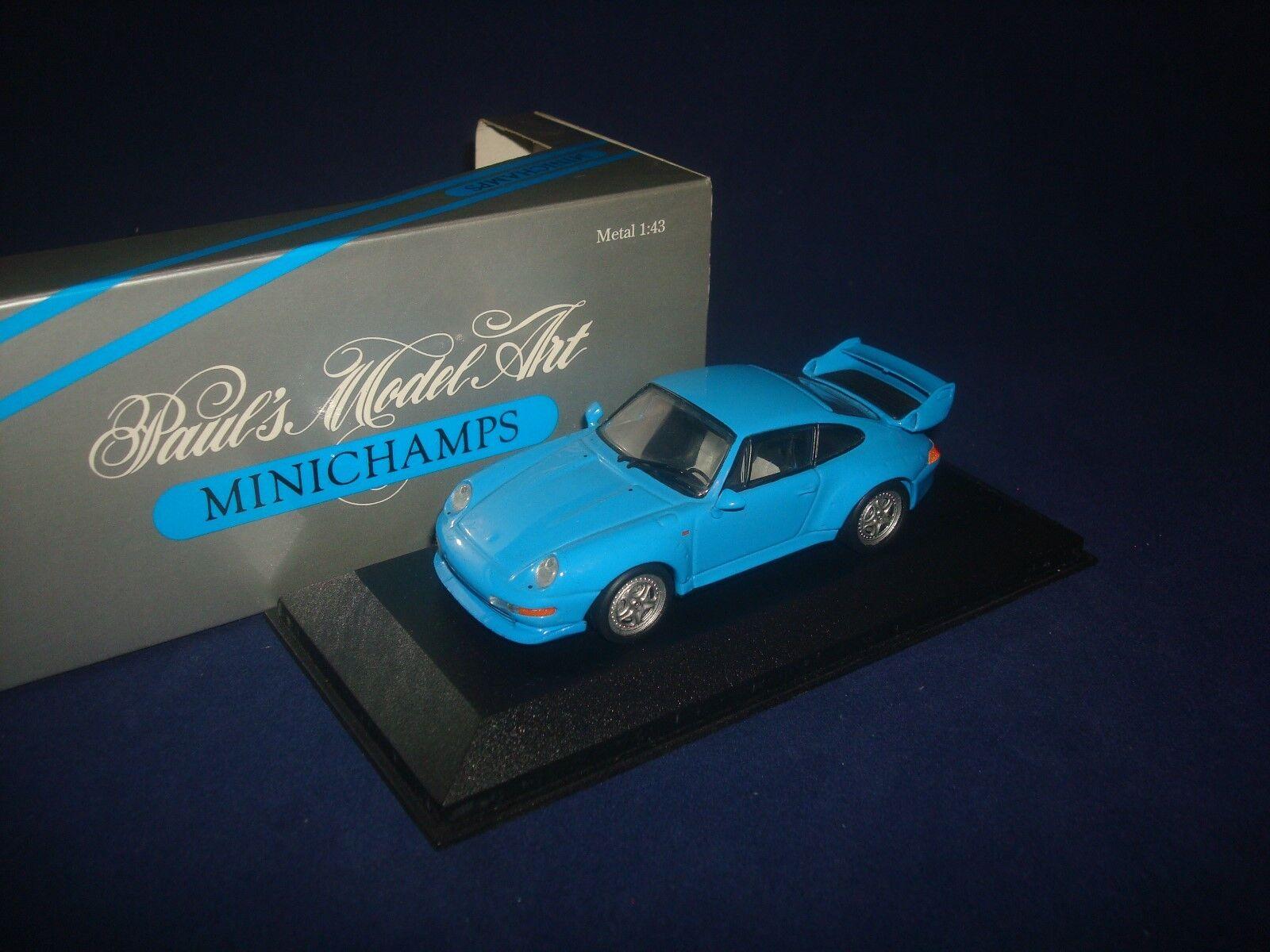 Porsche 911 GT2 1995 bluee Minichamps 430065001 1 43