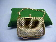 alte kleine Damen Handtasche Metall Kinder Puppen Tasche Täschchen (12)