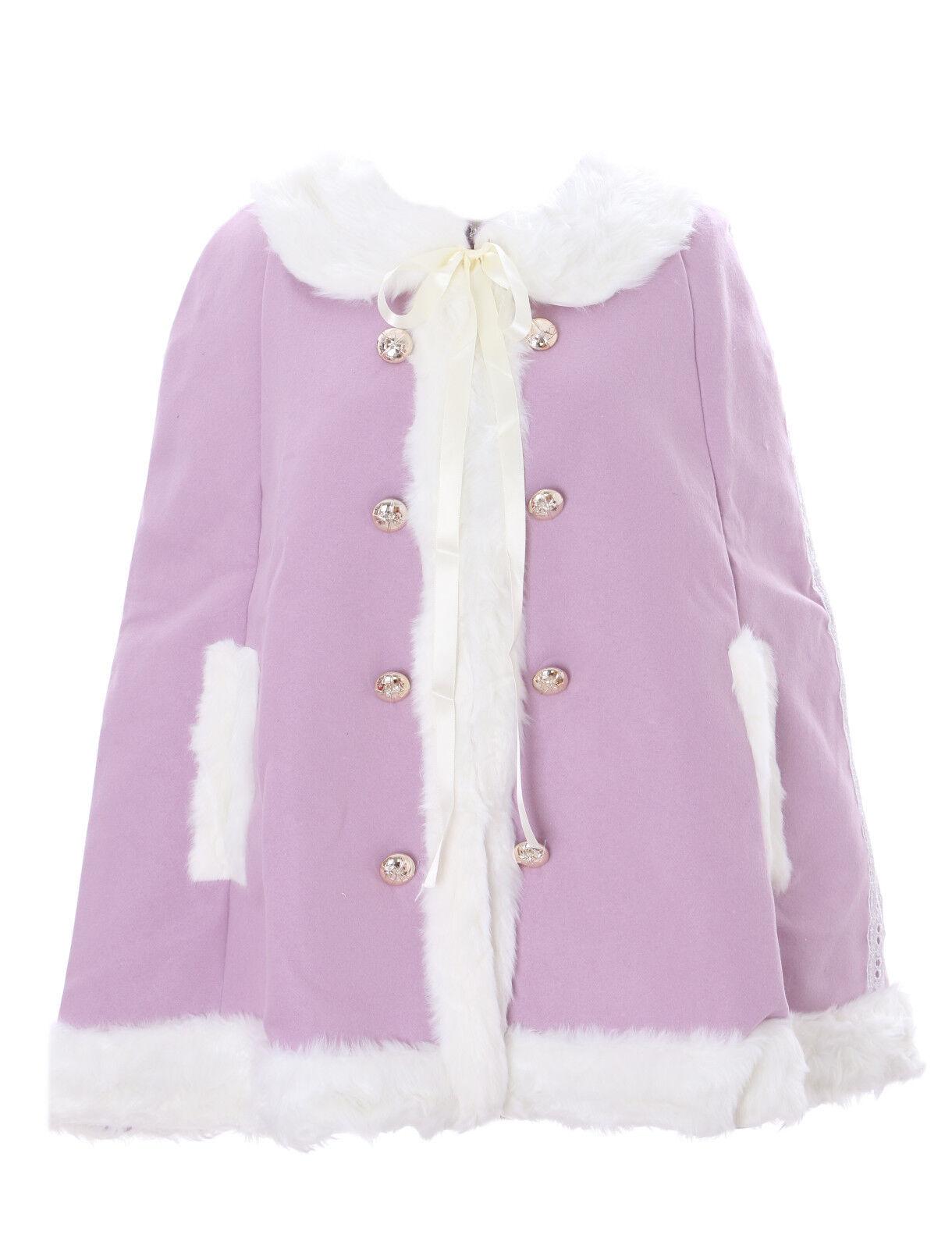 Ts-84-a púrpura púrpuras Cape  capa Lolita Woll-chaqueta pastel Goth Harajuku japón Ka  el estilo clásico