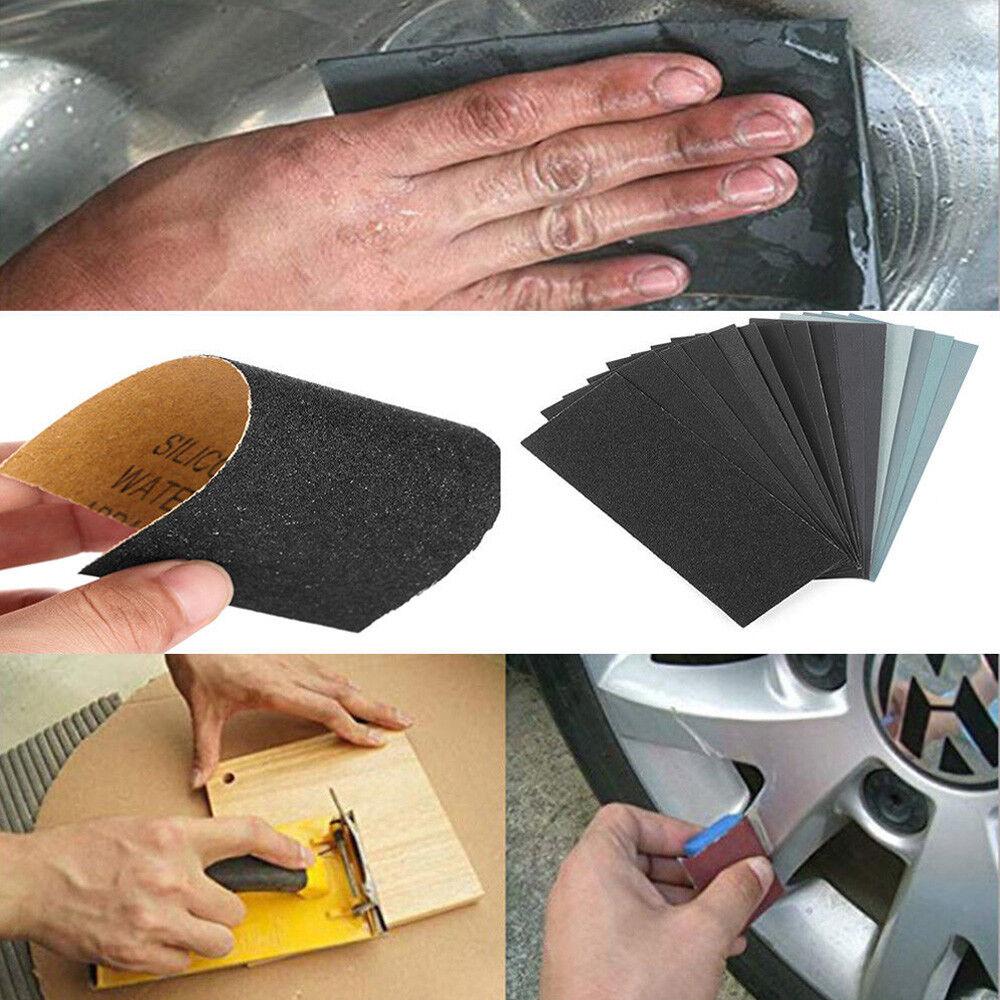Details About Wet Dry Sandpaper Abrasive Sanding Paper Sheets 150 8000 Grit Car Paint Polish