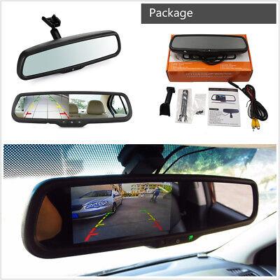 "Bracket 12V 4.3/"" TFT LCD Display Screen Car Rearview Mirror Reverse HD Monitor"