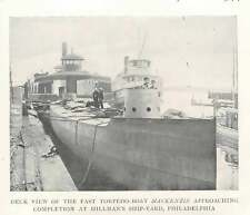 1899 Deck View Of Fast Torpedo Boat Mackenzie Hillman's Shipyard Philadelphia