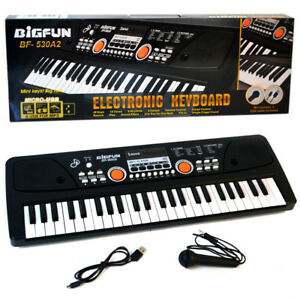 Details about 49 Keys Digital Electronic Keyboard With Microphone USB Piano  Organ Music Toy