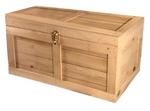 Storage-Chest-Hope-Trunk-wood-locker-for-toys-dvd-games-cd-magazines-FLAT-TOP