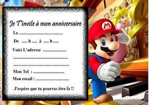 5 Cartes Invitation Anniversaire Mario Party Ebay