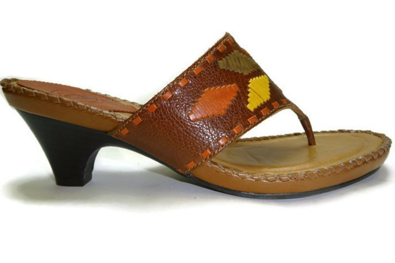 Nature women's Brown Boone Leather Thong sandal, Brown women's Multi, Size 6M 6d7ec3