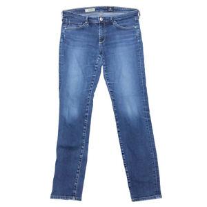AG-Adriano-Goldschmied-Stilt-Jeans-29-Womens-Cigarette-Leg-Low-Rise-Medium-Wash