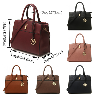 Brown Women/'s Fashion Faux Leather Large Tote Bag Ladies Shoulder Handbag