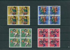 Switzerland-vintage-yearset-1990-Mi-1431-1434-Postmarked-pro-Juventute-4-er-Bl