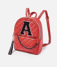 NEW Justice Girls Gold Shine Foil Polka Dot Initial Mini Backpack Bag