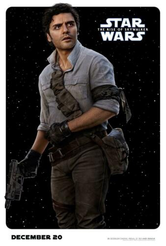 Poe Dameron Star Wars Movie The Rise of Skywalker Poster 24x36 27x40Inch D-223