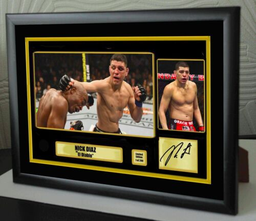 "Nick Diaz UFC canvas tribute signed Limited Edition ""Great Gift Souvenir"""
