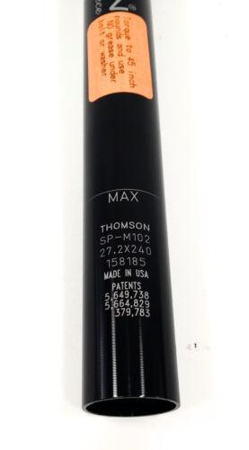 Thomson Masterpiece Bike Bicycle Seatpost 27.2 x 240mm Black