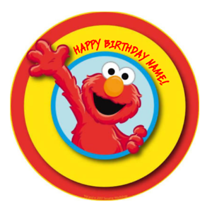 Image Is Loading Elmo Sesame Street Personalised Edible Birthday Cake Decoration