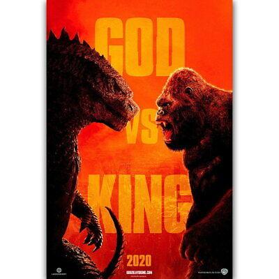 60276 Godzilla Vs Kong 2020 Horror Decor Wall Print Poster Ebay