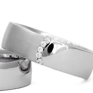 Silber-925-Trauringe-Eheringe-Verlobungsringe-mit-Gravur-und-Swarovski-Stein-B12
