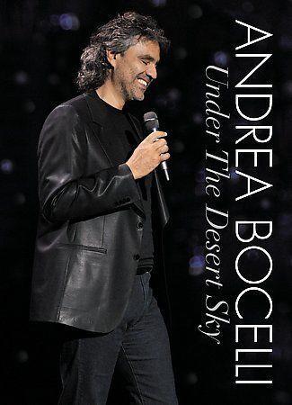 Andrea Bocelli Under The Desert Sky DVD, 2006, Includes Audio CD  - $1.85