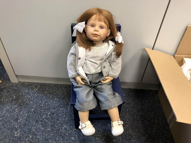 Brigitte Paetsch Vinyl Puppe 57 cm. Top Zustand